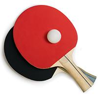 Tischtennis Schläger Ball